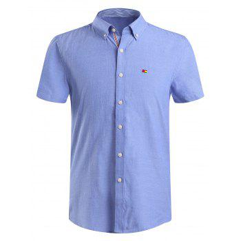 Men's Fashion Solid Color Button-Down Shirt