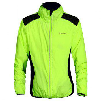 Durable Long Sleeve Breathable Windproof Cycling Jacket For Unisex - GREEN GREEN