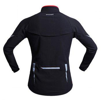 High Quality Long Sleeve Windproof Cycling Jacket For Unisex - RED/BLACK M