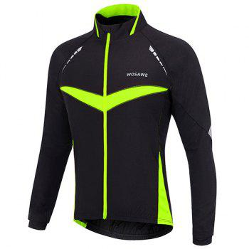 High Quality Long Sleeve Windproof Cycling Jacket For Unisex - L L