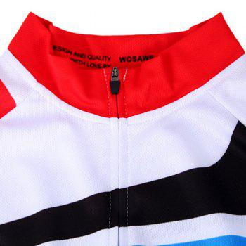 Fashionable Outdoor Windproof Short Sleeve Jersey + Shorts Cycling Suits For Men - COLORMIX XL