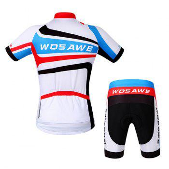 Fashionable Outdoor Windproof Short Sleeve Jersey + Shorts Cycling Suits For Men - L L