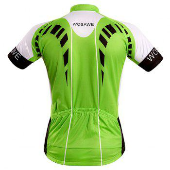 High Quality Full Zipper Summer Cycling Short Sleeve Jersey For Men - 2XL 2XL