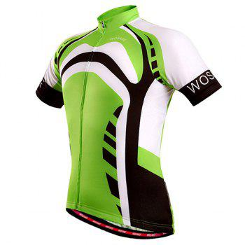High Quality Full Zipper Summer Cycling Short Sleeve Jersey For Men - GREEN GREEN