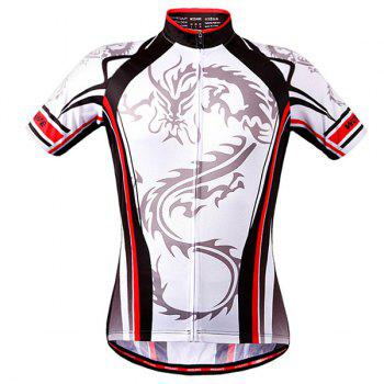 High Quality Dragon Totem Design Full Zipper Short Sleeve Summer Cycling Jersey For Men