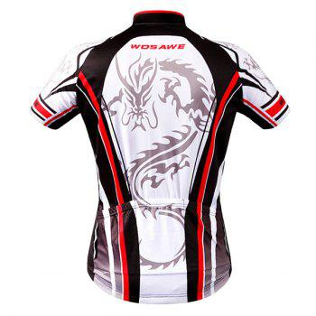 High Quality Dragon Totem Design Full Zipper Short Sleeve Summer Cycling Jersey For Men - L L