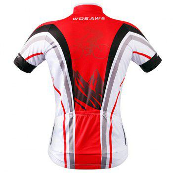 Stylish Bicycle Design Full Zipper Short Sleeve Summer Cycling Jersey For Men - M M