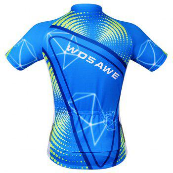 Fashionable 3D Geometry Pattern Short Sleeve Summer Cycling Jersey For Men - L L