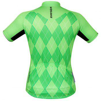 High Quality 3D Square Pattern Short Sleeve Summer Cycling Jersey For Men - 2XL 2XL
