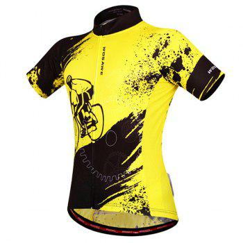 Fashionable Biker Pattern Short Sleeve Summer Cycling Jersey For Men - L L