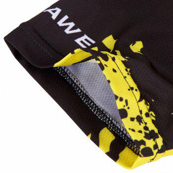 Fashionable Biker Pattern Short Sleeve Summer Cycling Jersey For Men - YELLOW/BLACK L