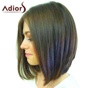 Vogue Mixed Color Short Straight Middle Part Capless Adiors Wig For Women