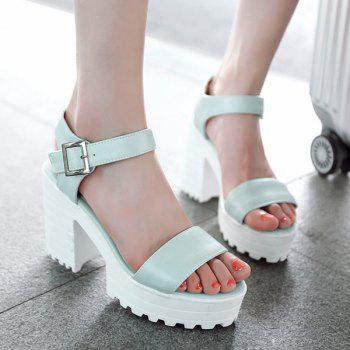 Stylish Platform and PU Leather Design Women's Sandals