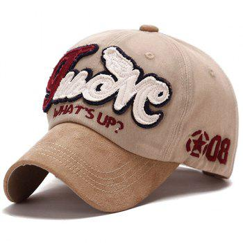 Fashion Letters Applique Star Numbers Embroidery Do Old Suede Baseball Cap
