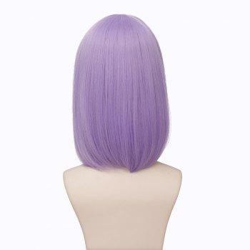Women's Fluffy Shidare Hotaru Full Bang Synthetic Straight Cosplay Wig - LIGHT PURPLE