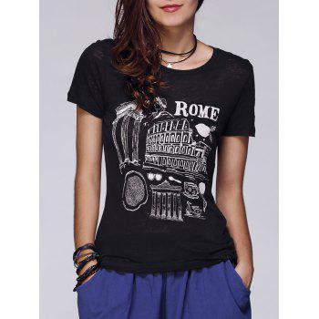 Rome Graphic Fitted T-Shirt