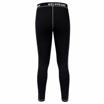 Comfortable Outdoor Sports Breathable Fleeces Warmth Biker Pants For Men - BLACK M