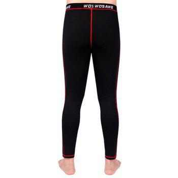Comfortable Outdoor Sports Breathable Fleeces Warmth Biker Pants For Men - RED 2XL