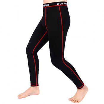 Comfortable Outdoor Sports Breathable Fleeces Warmth Biker Pants For Men - RED XL