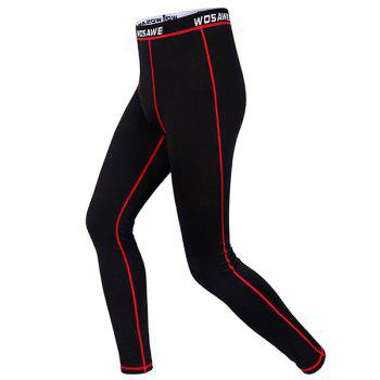 Comfortable Outdoor Sports Breathable Fleeces Warmth Biker Pants For Men - RED RED
