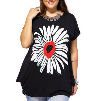 Floral Plus Size Baggy Tee