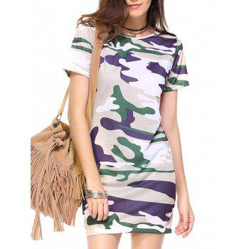 Camo Print Mini Sheath Dress