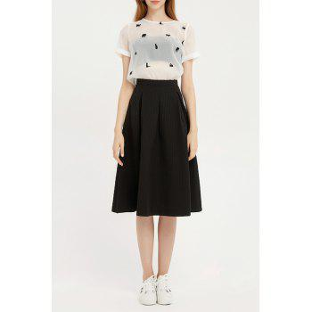 High Waisted Midi Umbrella Skirt