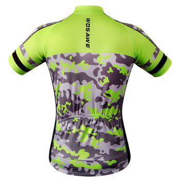High Quality Camouflage Pattern Full Zipper Short Sleeve Summer Cycling Jersey For Men - COLORMIX L