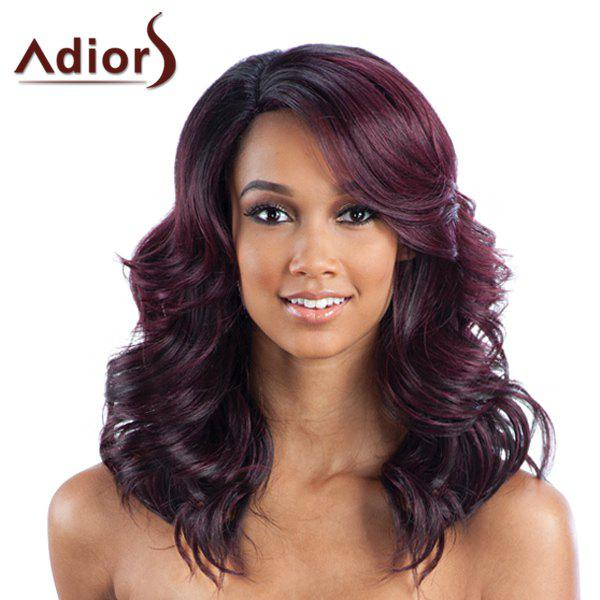 Fluffy Long Wavy Capless Charming Mixed Color Synthetic Adiors Wig For Women