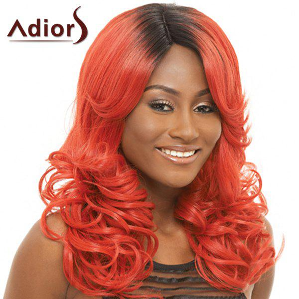 Fluffy Wavy Stylish Long Black Ombre Jacinth Synthetic Adiors Wig For Women