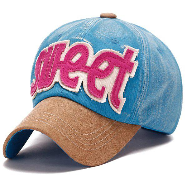 Fashion Letter Shape Applique Casual Style Do Old Suede Baseball Cap
