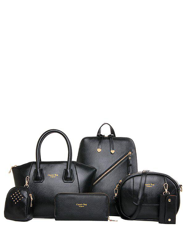 Charming Solid Color and Zipper Design Womens SatchelBags<br><br><br>Color: BLACK