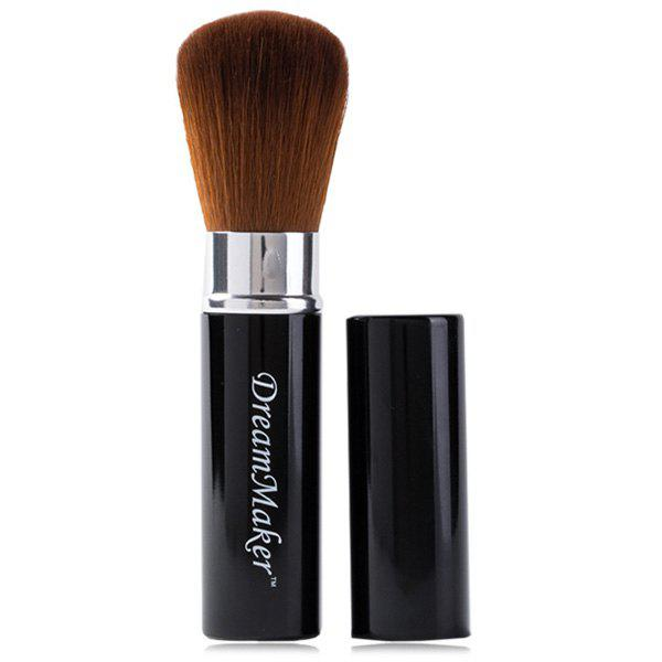 Creative Multifunction Telescopic Design Fiber Powder Brush Blush Brush - BLACK