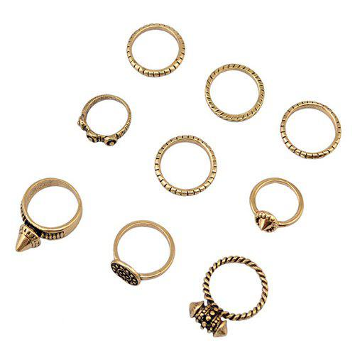A Suit of Delicate Rivet Rings For Women