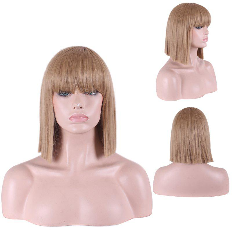 Women's Fashion Full Bang Straight Sythetic Cosplay Bob Wig