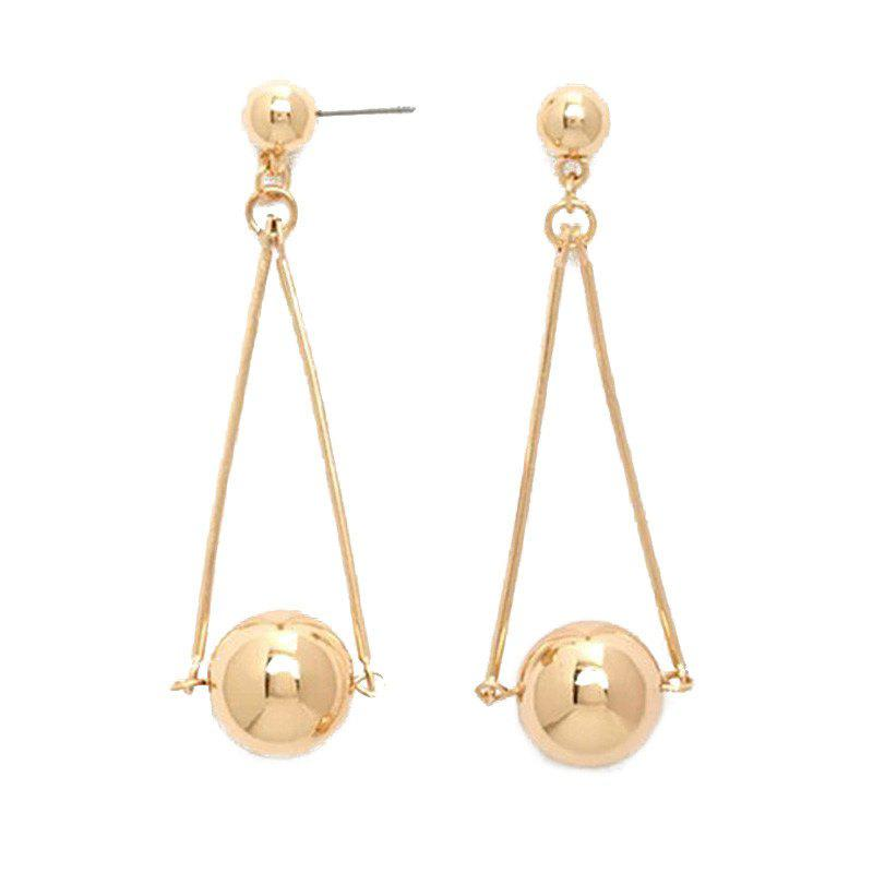 Pair of Gorgeous Metal Ball Drop Earrings For Women