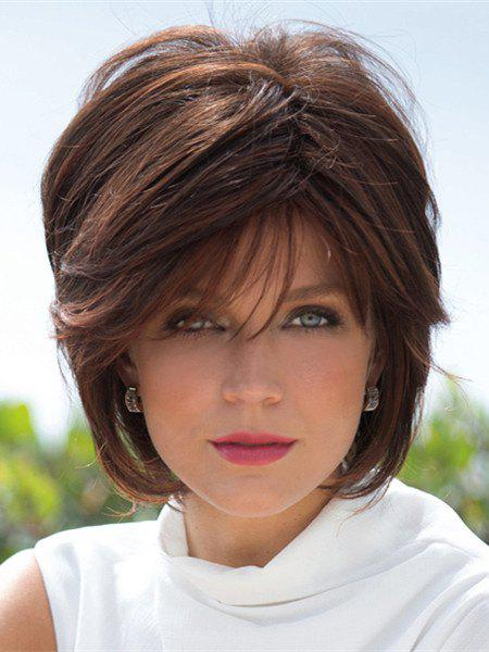 Fluffy Straight Capless Vogue Brown Short Women's Synthetic Wig