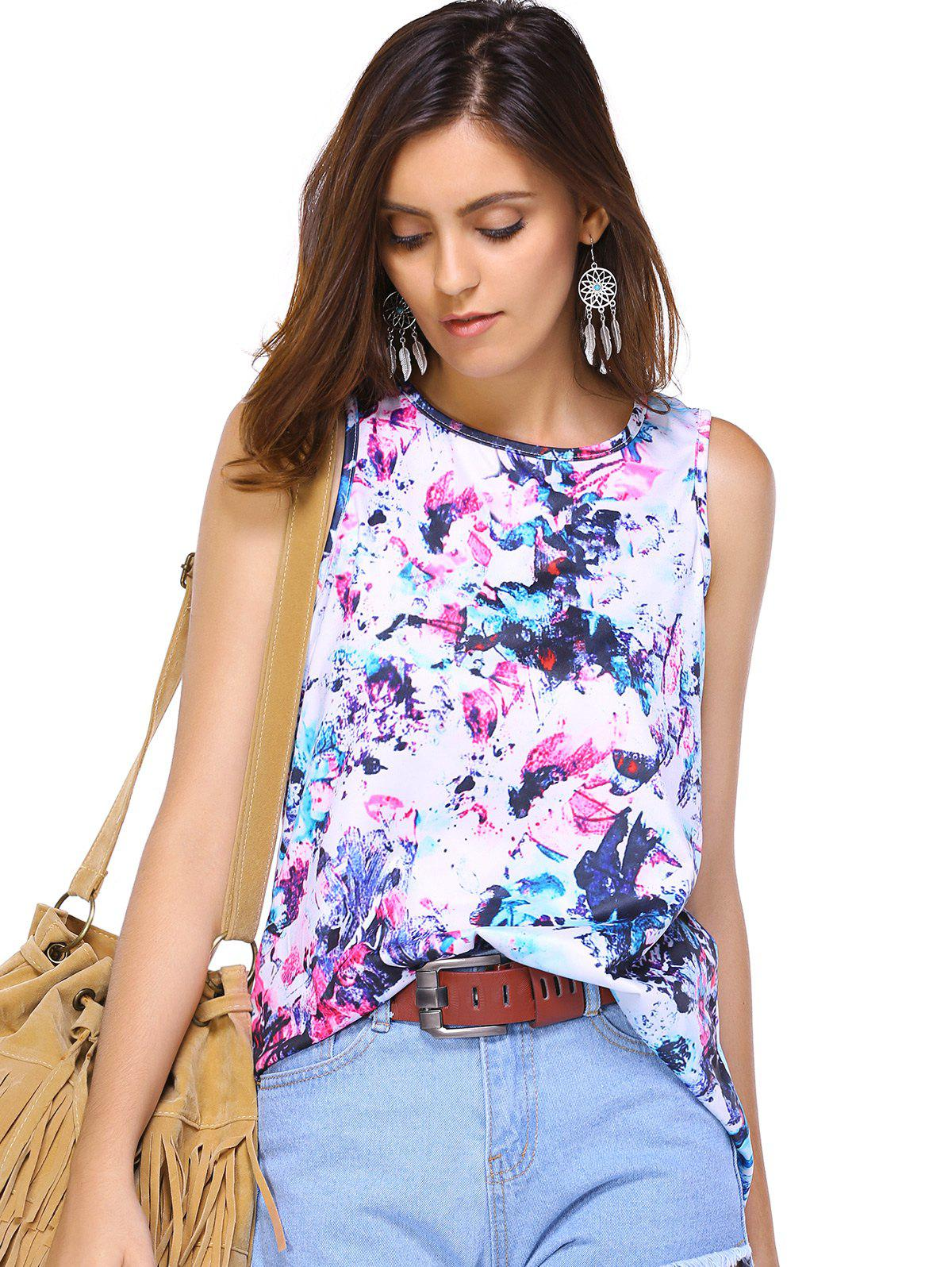 Printed Colorful Tank Top - COLORMIX XL
