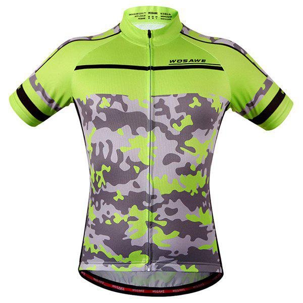 High Quality Camouflage Pattern Full Zipper Short Sleeve Summer Cycling Jersey For Men - COLORMIX XL