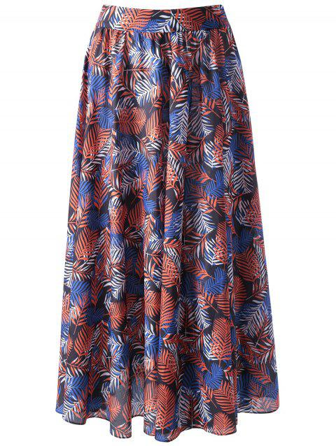 Trendy Ethnic Print Beach Skirt For Women - COLORMIX XL