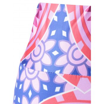 Stylish Women's Elastic Waist Pattern Printing Pants - COLORMIX ONE SIZE(FIT SIZE XS TO M)
