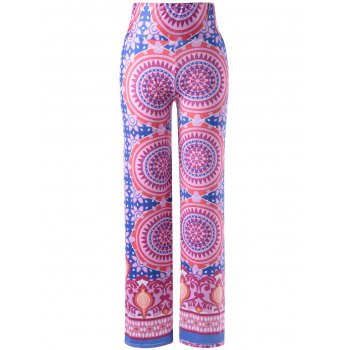 Stylish Women's Elastic Waist Pattern Printing Pants