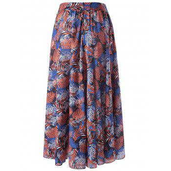 Trendy Ethnic Print Beach Skirt For Women - COLORMIX S