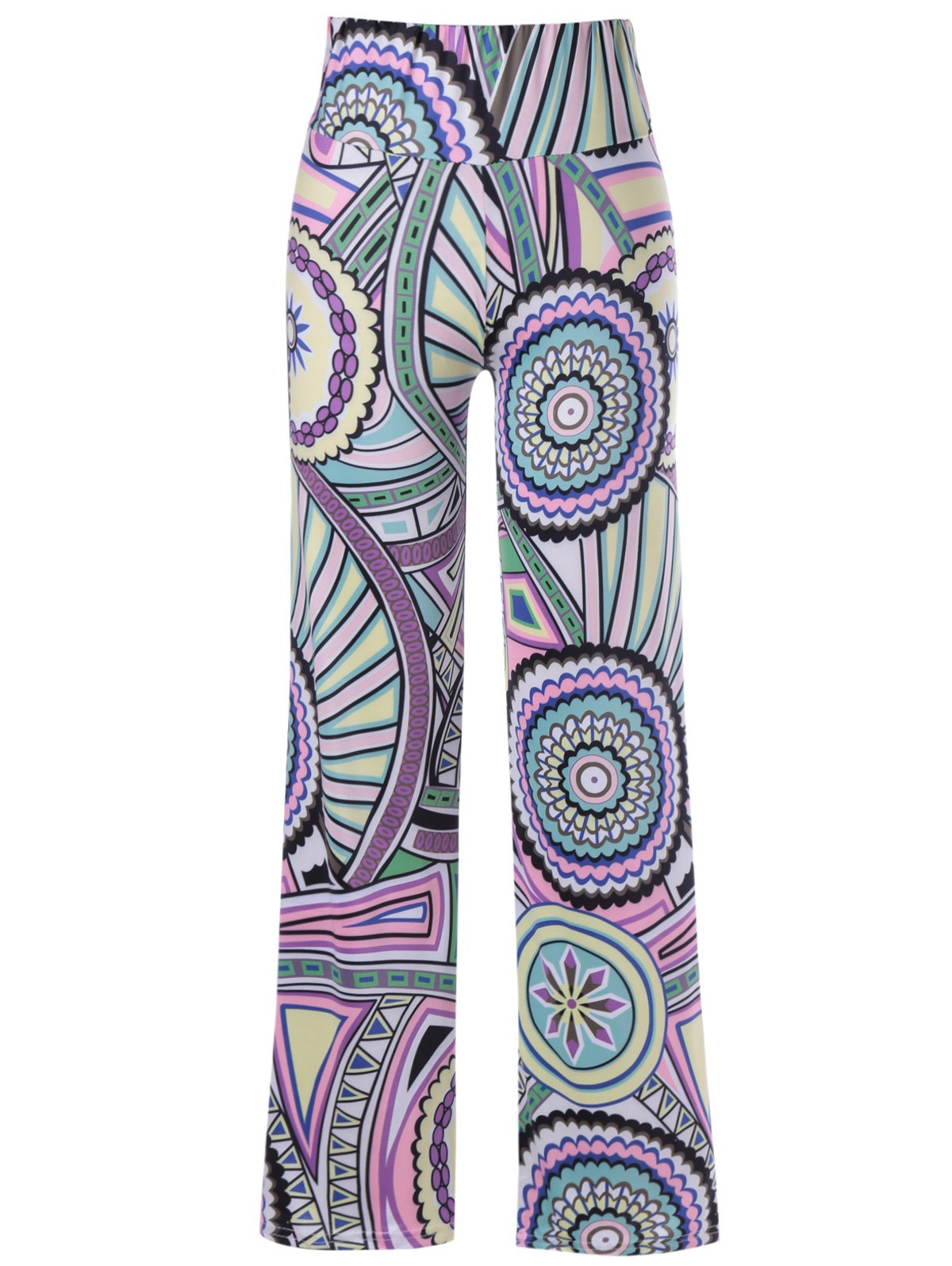 Causal Women's Elastic Waist Pattern Print Pants - COLORMIX ONE SIZE(FIT SIZE XS TO M)