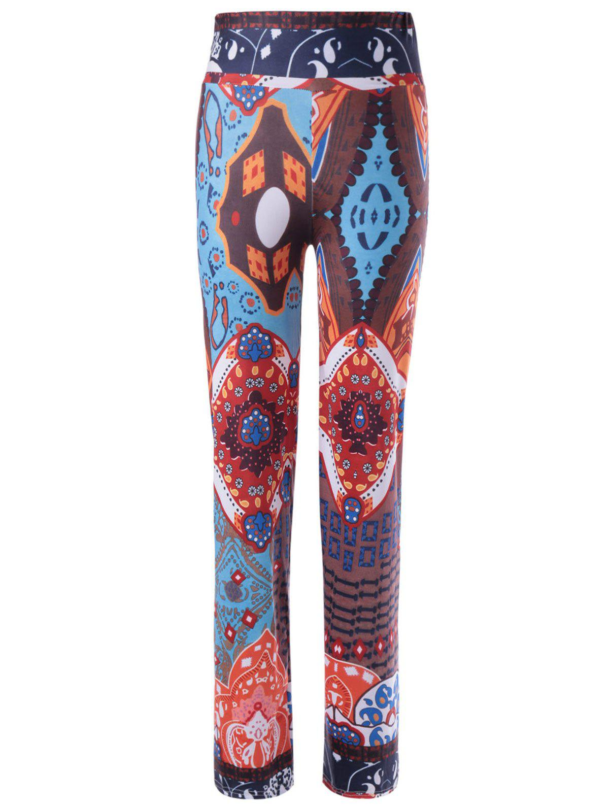 Stylish Women's Straight Leg Pattern Printing Pants - COLORMIX ONE SIZE(FIT SIZE XS TO M)