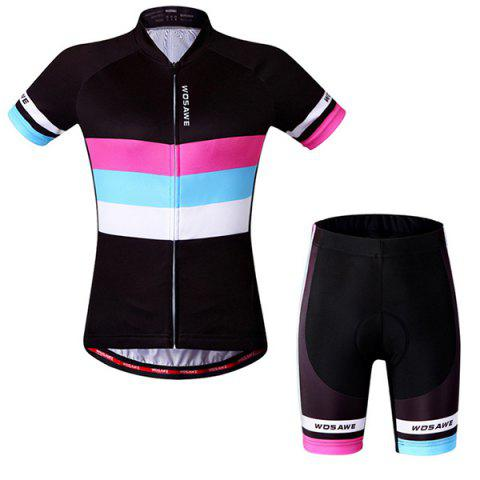 Hot Sale style simple à manches courtes Jersey + Shorts Costumes Cyclisme Outdoor - multicolore S
