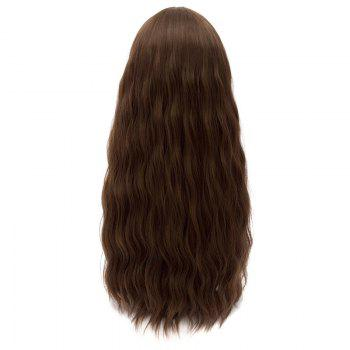 Fluffy Cosplay Synthetic Wavy Long Wig - BROWN