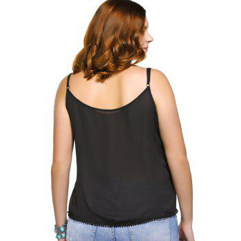 Fashionable Spaghetti Strap Geometric Print Plus Size Women's Tank Top - L L