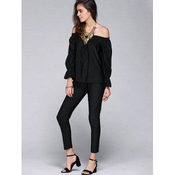 Stylish Women's Off The Shoulder Blouse and Pants - M M