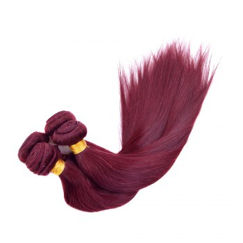 Fashion 1 Pcs Silky Straight Brick Red 6A Virgin Brazilian Hair Weave For Women - 10INCH 10INCH